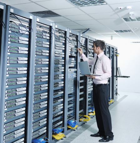 We service cooling and power tech for data centers