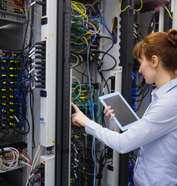 Site Support Services working in data room